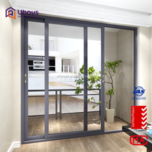 customize single tempered glass aluminium framed large sliding glass interior door