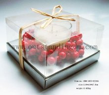 Scented White Candle In Making Raw Materials In Glass Jar Luxury With Box
