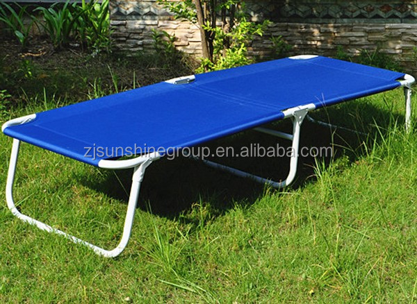 Metal frame folding cot portable folding camping cot camping bed