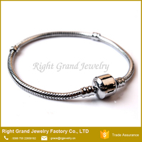 Fashion Silver Plated Snake Chain European Charm Bracelet Jewelry