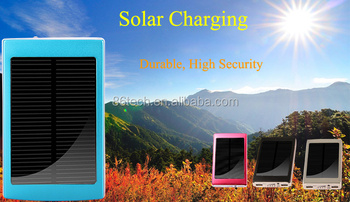 30000mAh solar Power Bank with LED Light for iPhone 6S from factory directly
