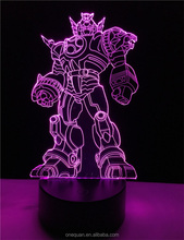 Lastest Transformers shape adjustable colorful 3D led night lamp