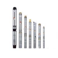 Multistage deep well submersible pump bore hole pump