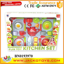 Hot Sale Plastic Mini Tableware Toy Set Kitchen Set For Kids