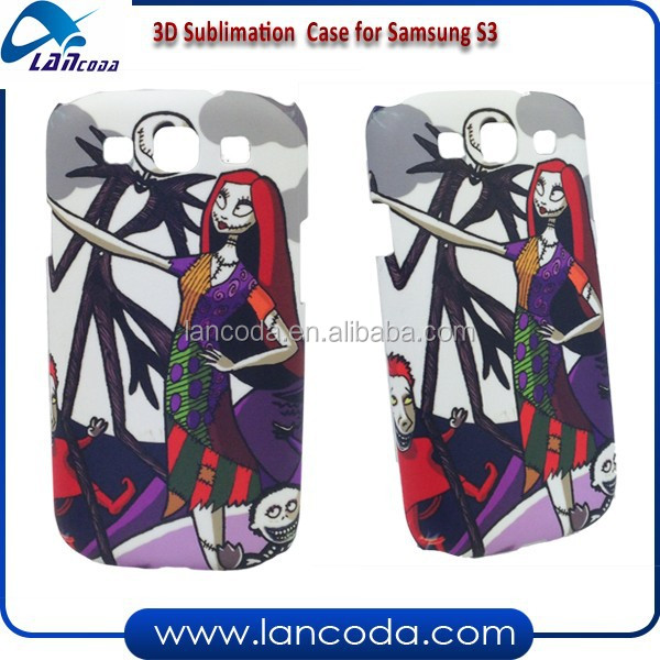 Best seller 3D sublimation case for samsung galaxy s3 I9300 mobile phone cover
