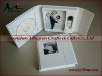 Nice Wedding Leather CD DVD USB Packaging Storage Gift Case Box