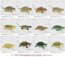 12PCS turtle Animal Set Cartoon Zoo Animal Toys Plastic Wild Animal Toy