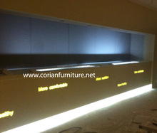 match site work Acrylic solid surface made Bar Counter/Reception counter /led lighted bar counter