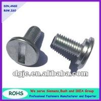 Button head Slotted thumb head flat head flat tail decoration screw