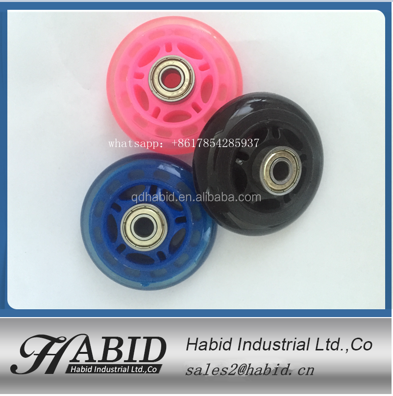 good service 70mmx24mm 110 x24mm skateboard crusier wheel and skate wheel cover for three wheel scooter