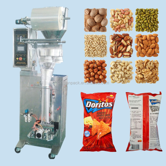 Vertical Type Back Sealing Granule Brazilian chestnut Packing machine Automatic Grade