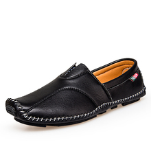 Comfortable Casual Shoes Quality Split Leather Latest Loafers Men