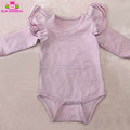 Baby Girls Angel Wing Ruffle Rompers brand clothes playsuit one piece custom bodysuit baby plain color flutter sleeve onesie