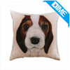 Custom Printing Retro Terrier Dog Pet Knitted Cushion Cover