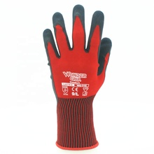Wonder Grip WG-310 Comfort 2131 Polyester knit Dry Humid Wet Environment Basic Protective Latex Double Dip <strong>Safety</strong> Working Gloves