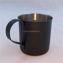 Eco friendly customized 400ml double wall stainless steel black coffee cup