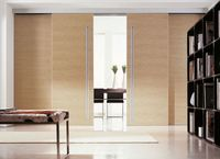 Sliding wooden door lock, sliding door, internal door