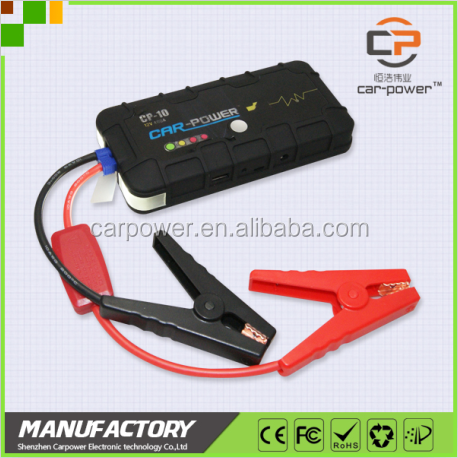2016 new 12v car accessaries power supplier jump starter with led light