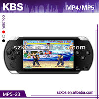"4.3"" TFT screen mp5 players games download Support 32 bit BIN games,2MP camera"