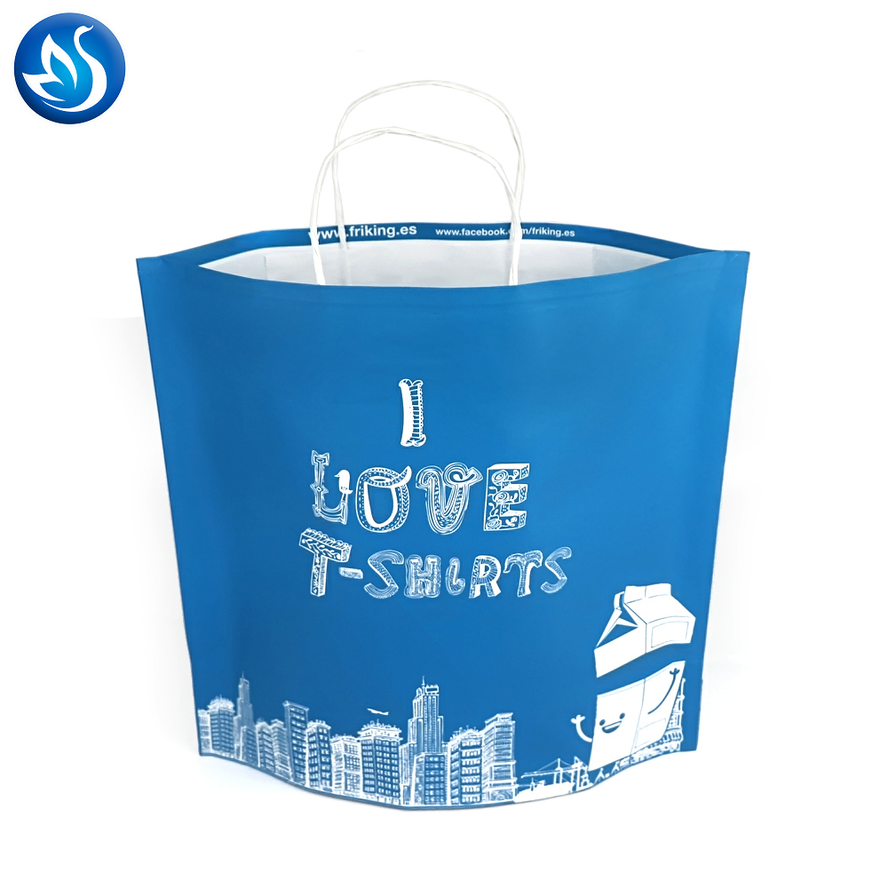 Brown Carrier Bags with Handles for Shopping, Merchandise and Grocery. Strong, Reusable