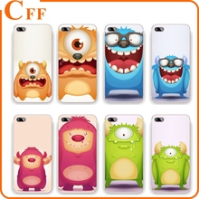 Creative Cute Cartoon Monster UV Print Soft TPU Case For Apple iPhone 4 4G 4S 5 5G 5S 5C 6 6S 7 Plus Transparent Gel Phone Case