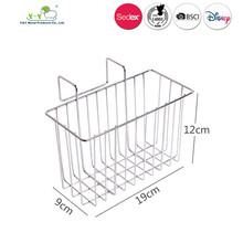 Cheap custom Portable Stainless steel Garage wire storage basket For Home Storage