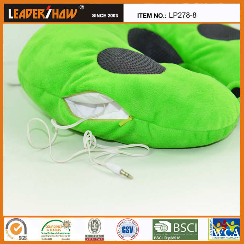 wholesale neck massage pillow vibration with bluetooth speaker made in china