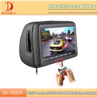 10.1 inch car wireless Headrest DVD with touch screen