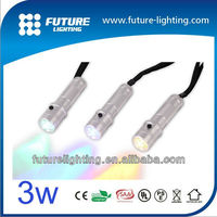 2013 Best price 3W RGB color changeable Edison led flashlight torch light