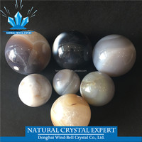 Wholesale Natural Stone Grey Agate Quartz Crystal Ball