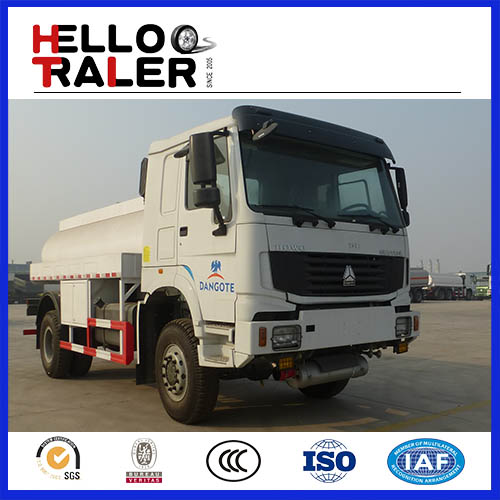 HOWO 6x4 336hp fuel tanker truck with capacity10000-25000L for sale