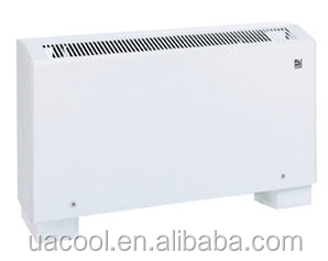 Chilled Water Floor standing Fan Coil for Central Air Conditioning Terminal Parts 2 pipes 3 rows fan coil unit