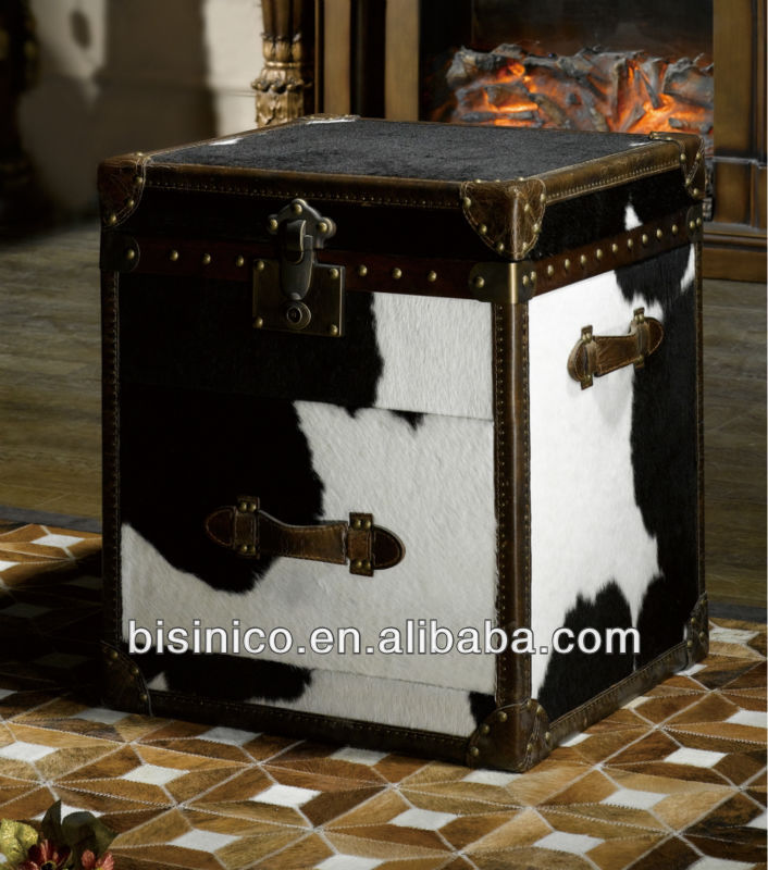 Cow fur trunk,antique trunk,high quality trunk (BF00-00009)