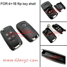 Wholesale China made 4+1buttons Opel flip key blank for Opel blank key