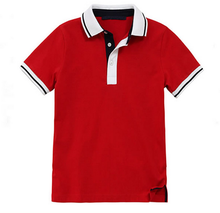 Customized Mens High Quality Red Polo T Shirts