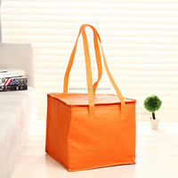 Outdoor fitness disposable nonwoven insulated lunch bag cooler bag