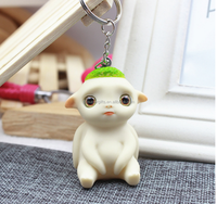2015 Custom Cute PVC Cartoon Character 3D Keyrings Wholesale