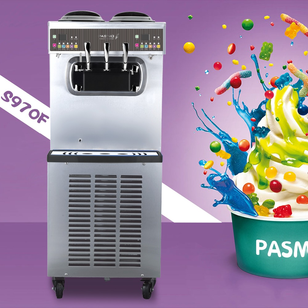 Pasmo S970F big compressor ETL sanitation nissei soft serve frozen yogurt machines