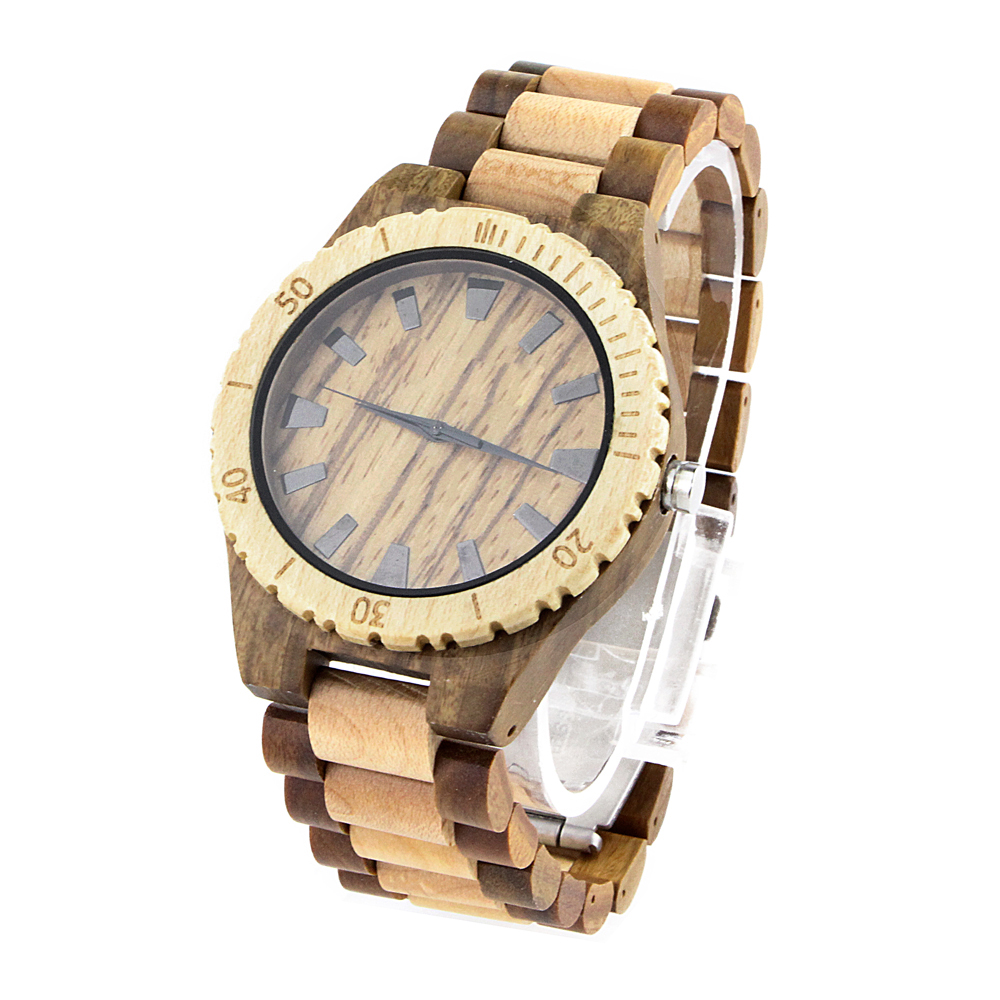 2017 Watches Men Luxury Brand Mens Big Wood Face Watches