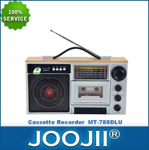 2015 New Portable Wooden AM/FM/SW1-9 BAND RADIO CASSETTE RECORDER WITH USB/SD SLOT