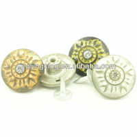 Fashion Custom Rhinestone Crystal Jeans Button Fasteners for Clothes