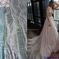 CL60559 Christmas Discount Factory Price New Fashion Embroidery Lace Fabric Women Tulle Wedding Fabric