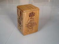 Solid oak wooden urn cremation for ashes