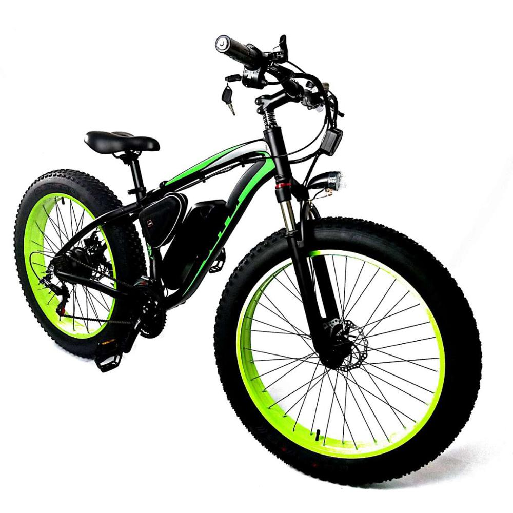 "China Manufacturer 26"" Fat Tyre 1000W Motor Electric Cycle Bicycle Beach Cruiser 1000 <strong>W</strong>"