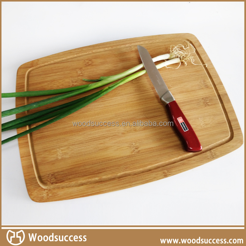 Natural material pebble square bamboo cutting board 100% safe for kitchenware