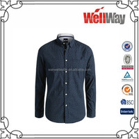 2015 new style office uniform designs for men's wholesale clothing no minimum order mens dress shirt in bulk