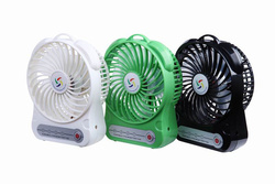 USB big wind battery operated 12v 16 inch rechargeable fan with LED light
