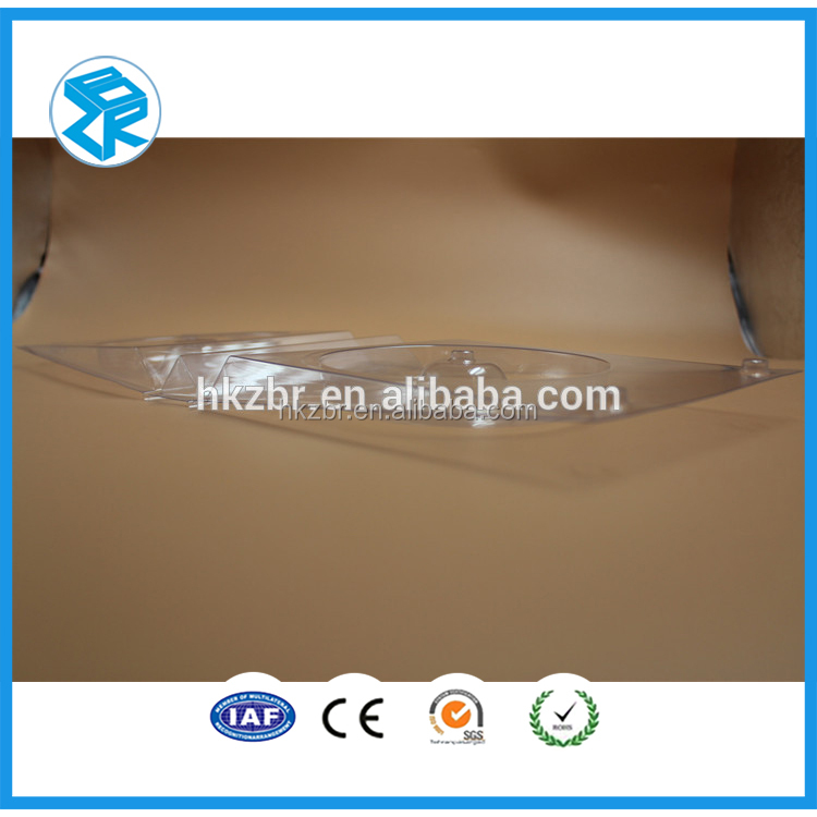 Transparent Blister Folding Box Packaging for Stationery , Plastic Clamshell Box
