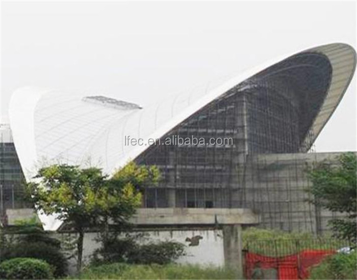 Light Weight steel structure space frame for stadium canopy
