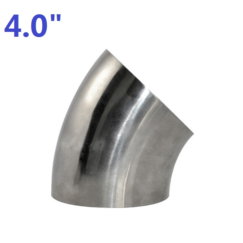 "4"" 102mm Sanitary Weld Elbow Pipe Fitting 45 Degree Stainless Steel SUS SS316"